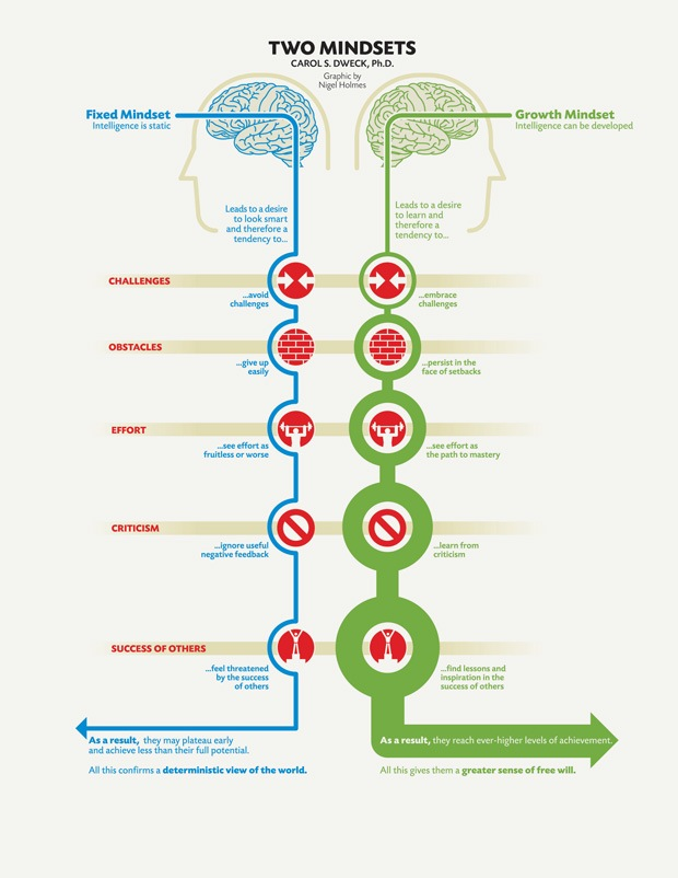 two mindsets fixed and growth carol dweck - What You Can Learn About Greatness Through Failure